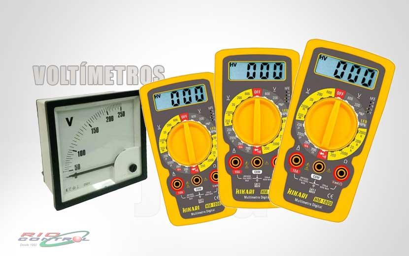 Voltímetro – Aparelho de medição de tensão elétrica